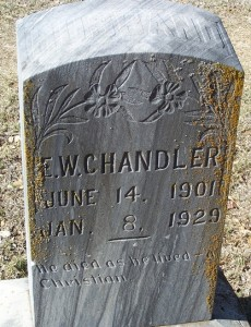 Chandler, E.W.  husb of Ruby