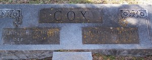 Cox, Mary Elizabeth & James William