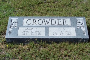 Crowder, Mary L & L.D.