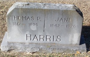 Harris, Thomas P & Jane Harris